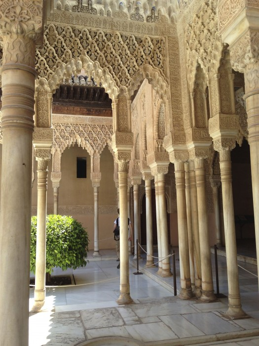 Gallery of the Court of Lions at Nasrid Palaces, Alhambra. The palaces are a sight to behold - no words can do justice to the experience!