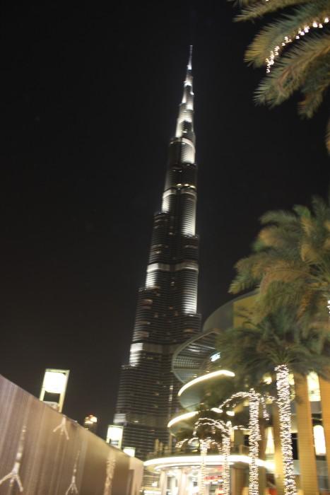 A view of Burj ul Arab at night