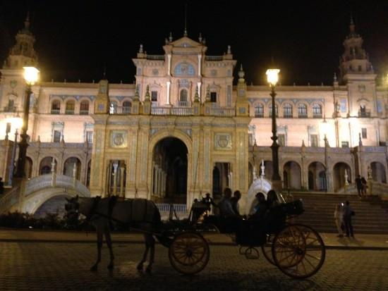 A memorable horse and carriage ride in Plaza De Espana, Seville