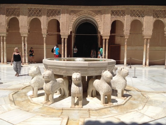 Fountain of Lions at the centre of Court of Lions
