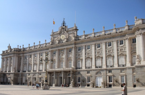 The king's palace in Madrid