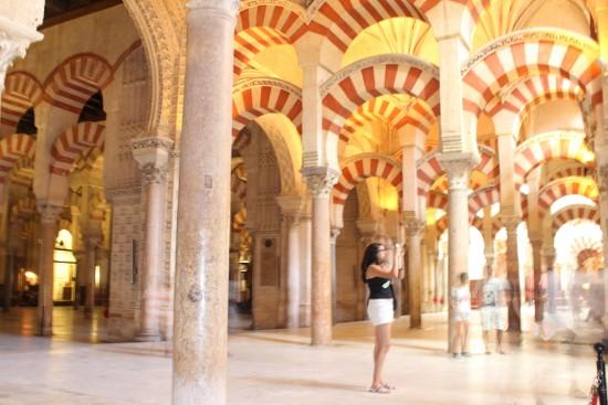 Inside the mosque of Abd Ar Rahman I in Cordoba