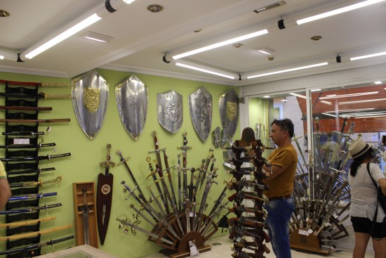 Toledo has historically been known for forging steel swords and armour
