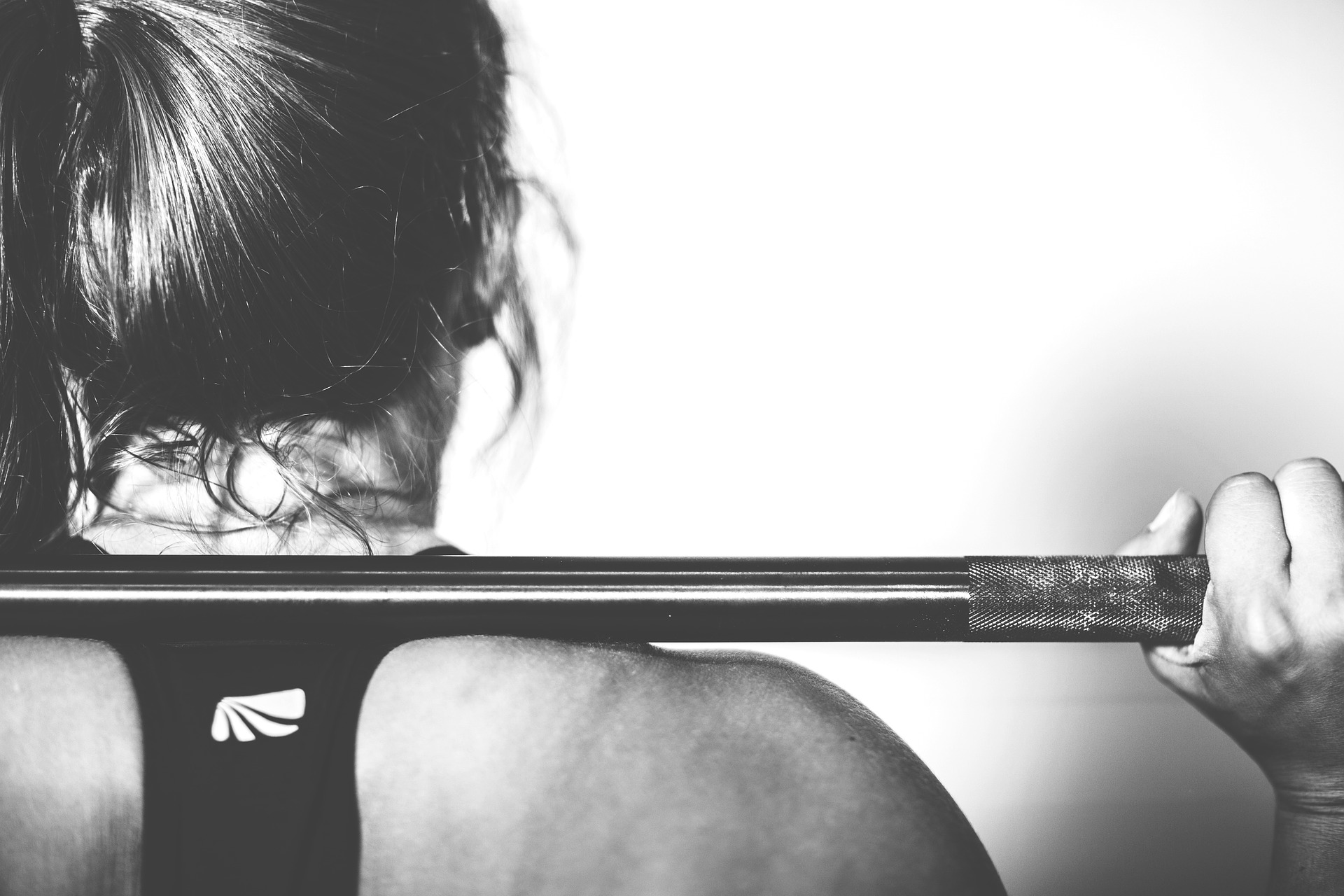 woman with barbell